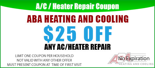 ABA Heating and Cooling Coupon Austin TX